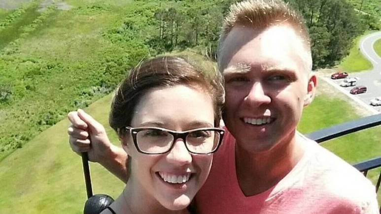 Lauren and Matthew Phelps posing for a selfie