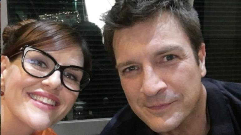 Sara Rue and Nathan Fillion