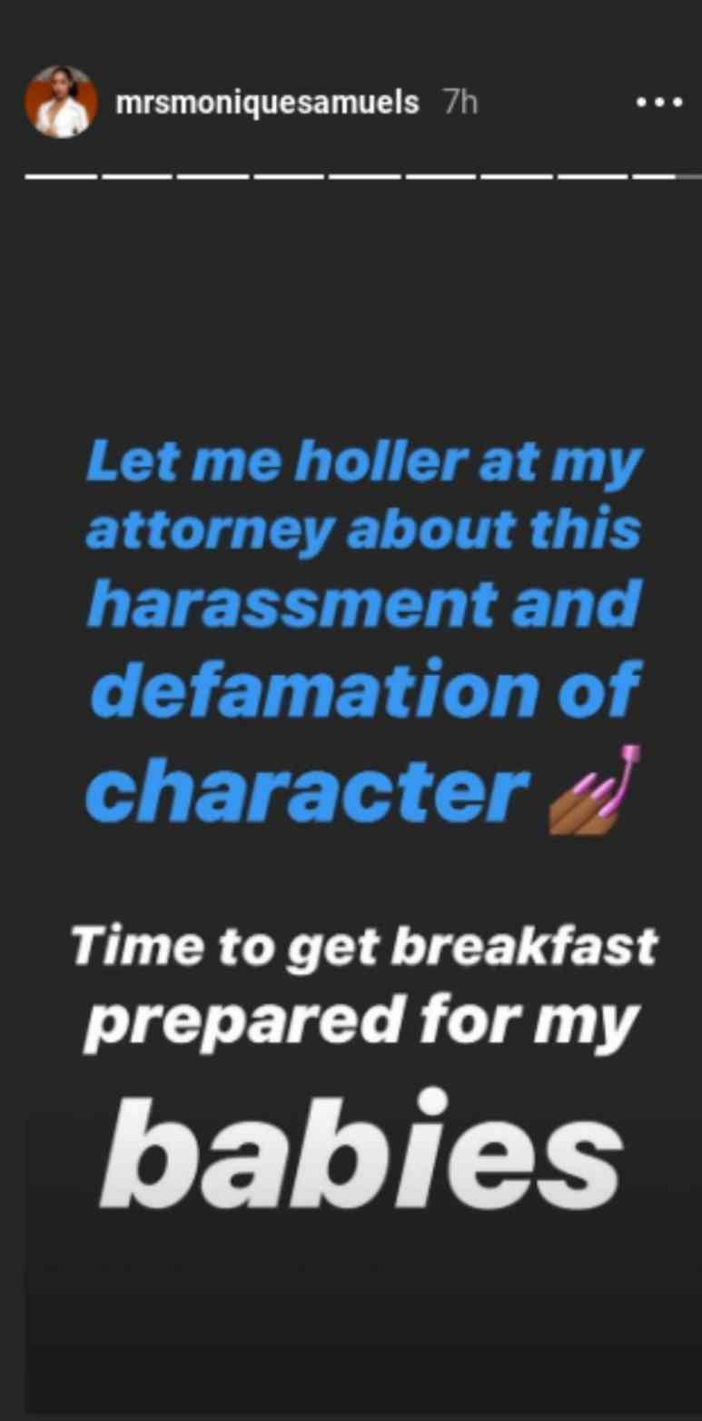Monique replies