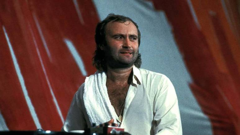 Phil Collins on stage 1985