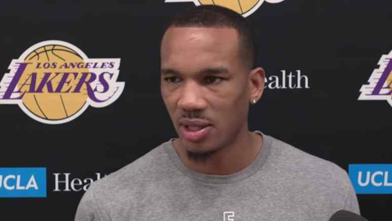 lakers guard avery bradley speak to the media about his ongoing injury