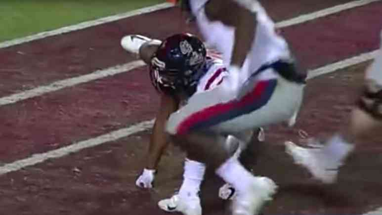Ole Miss player Elijah Moore 'pees like a dog' for his touchdown celebration