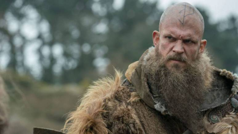 Floki, Gustaf Skarsgård was involved in his makeup application per dept. head Tom McInerney. Pic credit; HISTORY