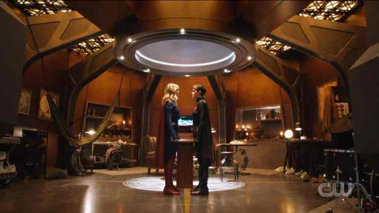 Kara and Kate face off over the Book of Destiny. Pic credit: The CW