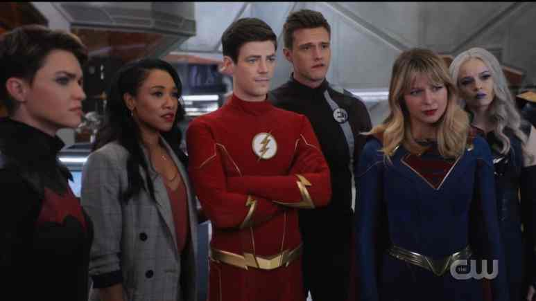 The Multiverse's mightiest heroes assemble for Crisis. Pic credit: The CW