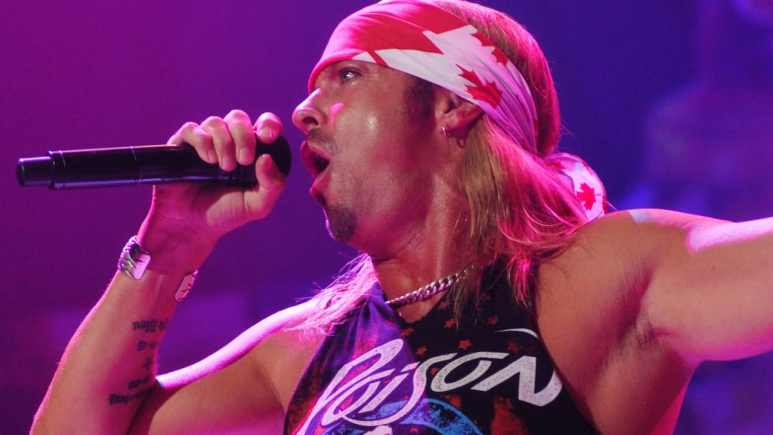poison singer bret michaels at rock of ages tour
