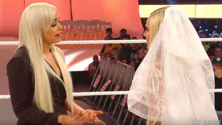 liv morgan confronts lana during her wedding to lashley on wwe raw