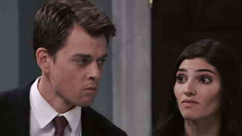Chad Duell and Amanda Setton as Michael and Brook Lynn on General Hospital.
