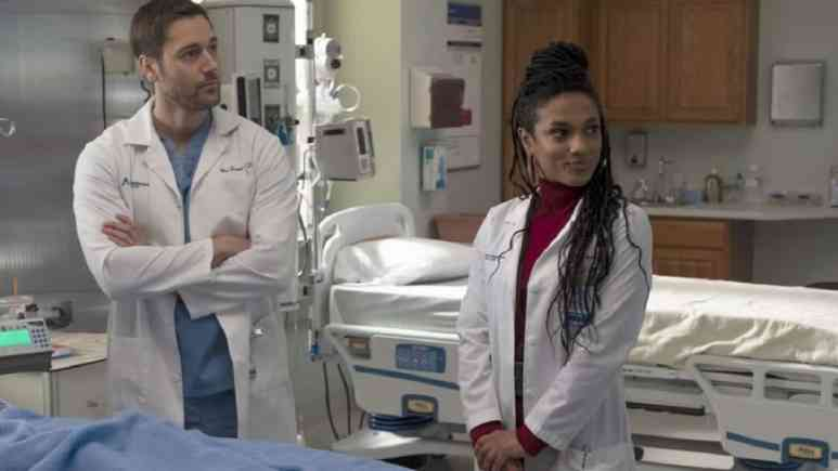 Freema Agyeman and Ryan Eggold on NBC's New Amsterdam