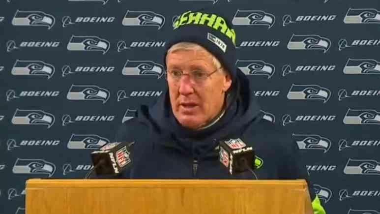 Pete Carroll of the Seattle Seahawks