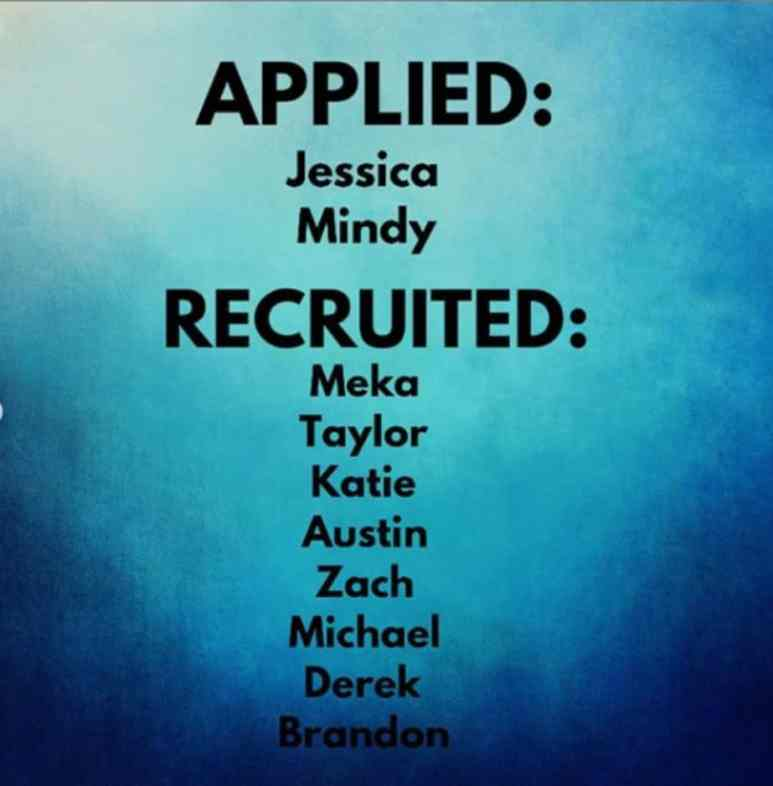 Recruiting list from MAfSfan