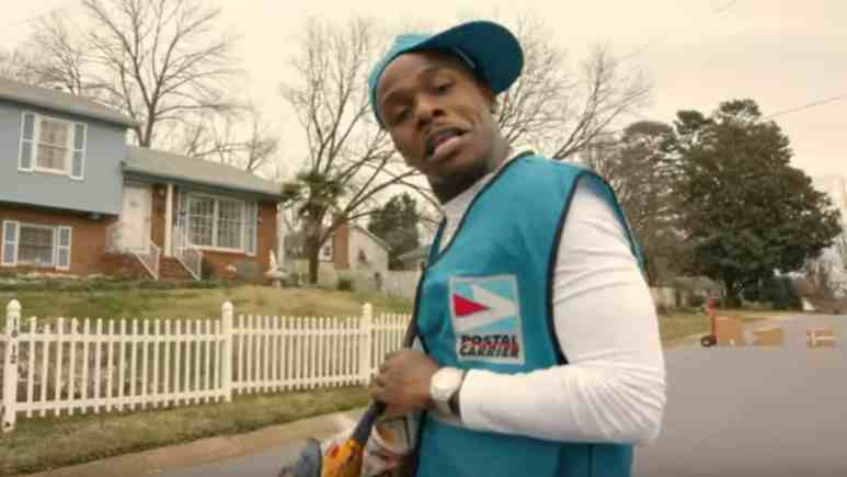 DaBaby performing in a music video