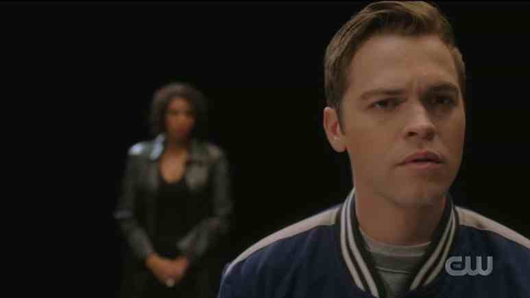 Jack (Alexander Calvert) meets Billie/Death (Lisa Berry) in the Empty. Pic credit: The CW