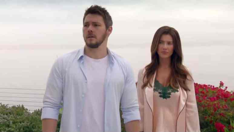 Scott Clifton and Jacqueline MacInnes Wood as Liam and Steffy on The Bold and the Beautiful.