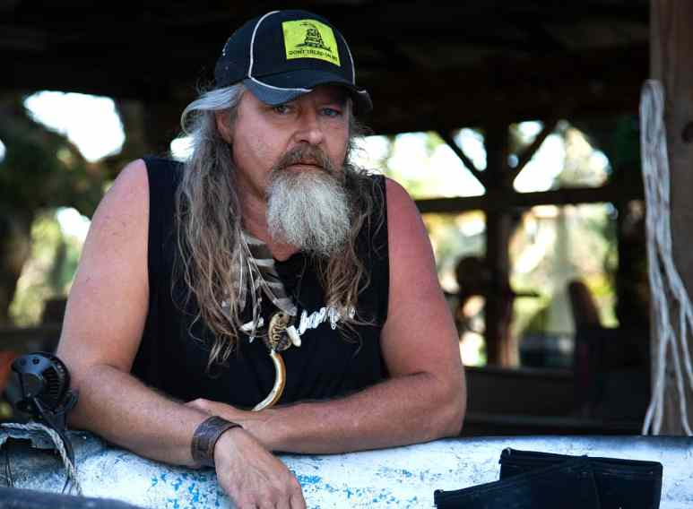 """In our exclusive interview with Brittany Borges last season, she described Dusty Crum as a """"swamp hippie."""" Pic credit: Discovery"""