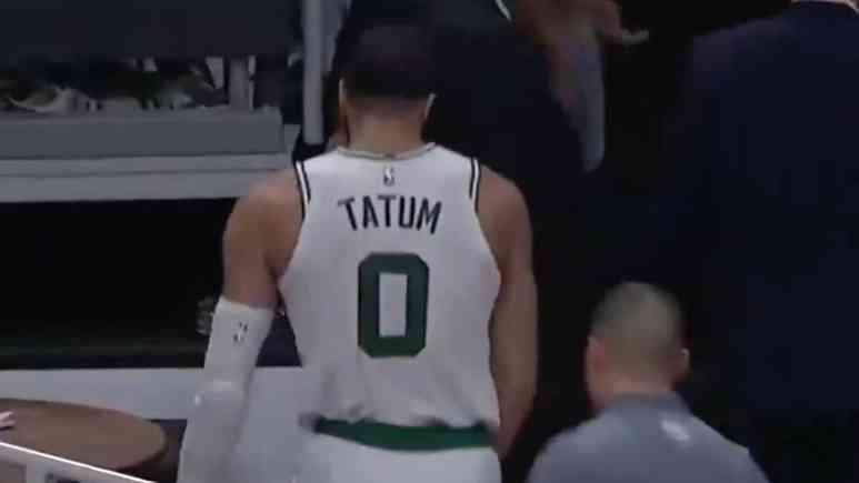 boston celtics jayson tatum leaves game with groin strain