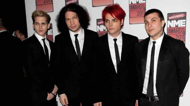 My Chemical Romance on the red carpet