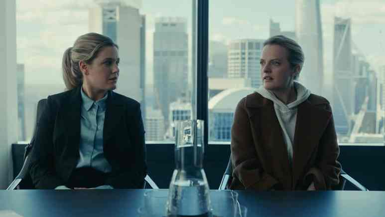 Elisabeth Moss and Harriet Dyer in The Invisible Man