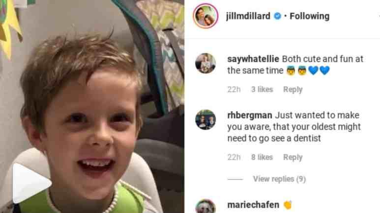 Jill Duggar's IG comment section.