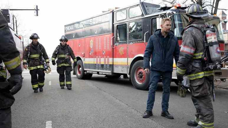 Brian Geraghty as Sean Roman on Chicago Fire.