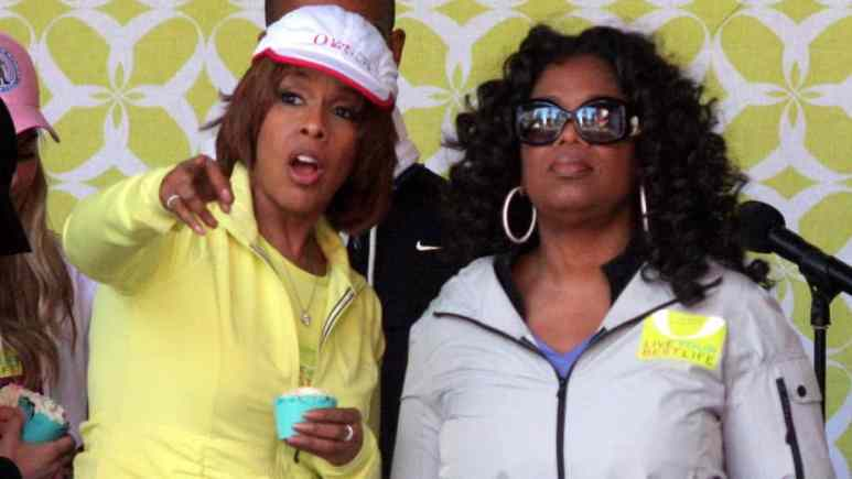 Oprah Winfrey and her friend Gayle King