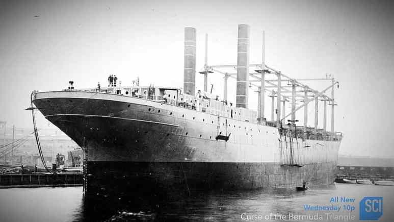 The doomed USS Cyclops, one of the largest losses of life for the navy, it vanished in the Bermuda Triangle. Pic credit: Science Channel.