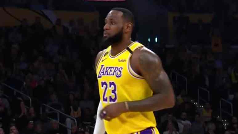 lebron james of lakers sidelined for warriors game