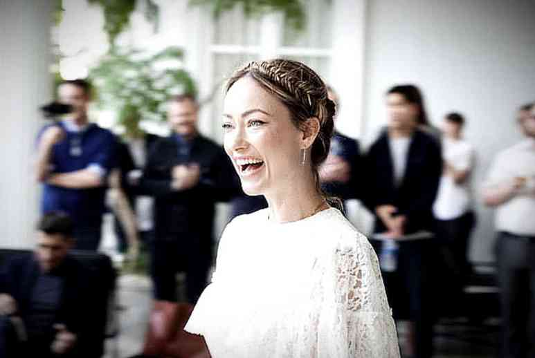 Olivia Wilde accepts her Dorian Award this past Sunday. Pic credit: Brandon Riley Miller/GALECA
