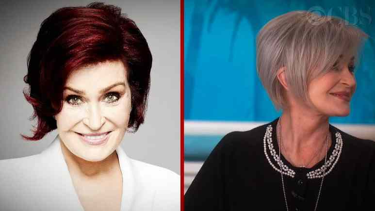 A side-by-side photo where the old hair color is juxtaposed with the new