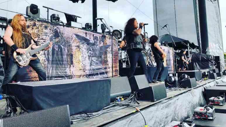 thrash metal band testament performs