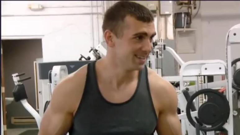 Sasha at the gym on an episode of 90 Day Fiance