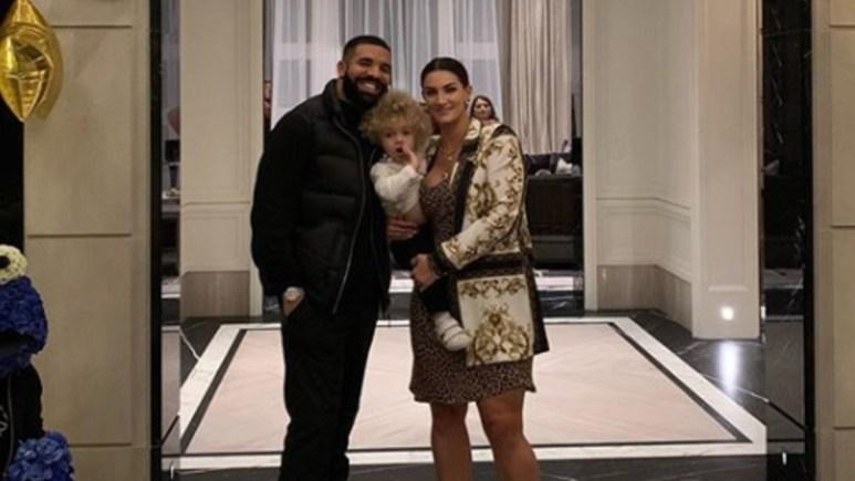 Drake, Sophie, and Adonis pose on IG