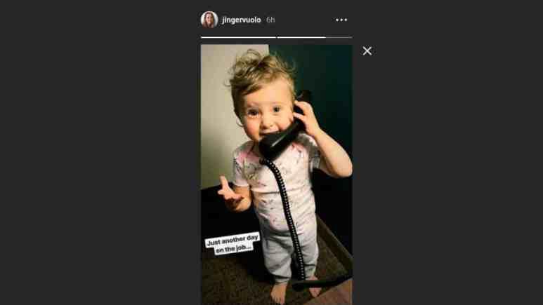 Felicity Vuolo using a phone.