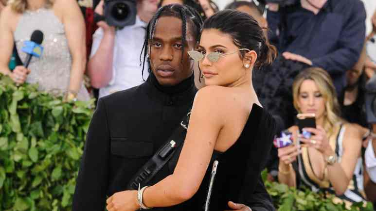 Kylie Jenner and Travis Scott pose together at the 2018 Costume Institute Benefit Gala Pic credit: ©ImageCollect.com/StarMaxWorldwide