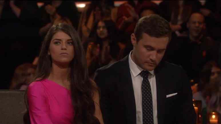 Madison looks mad on The Bachelor season finale