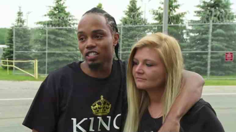 Sarah and Michael after his release from prison.