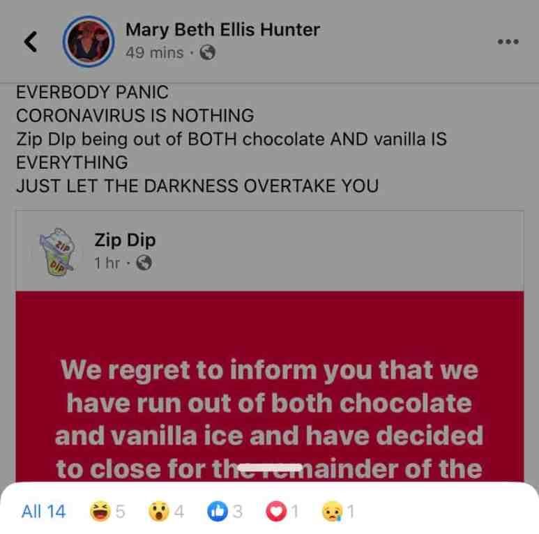 A Facebook post demonstrating a range of emojis is depicted.
