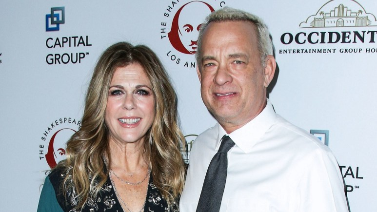 Actress Rita Wilson and hubby Tom Hanks