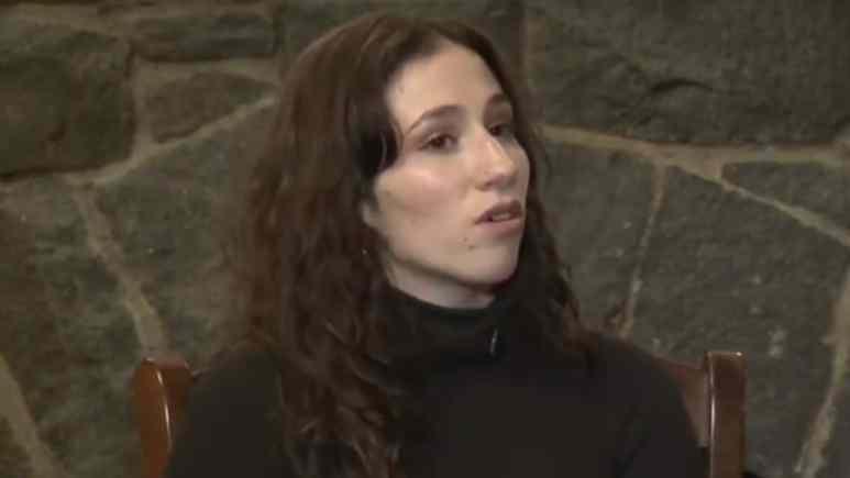 Madison L'Insalata being interviewed on CBS News