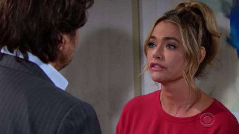 Thorsten Kaye and Denise Richards as Ridge and Shauna on The Bold and the Beautiful.
