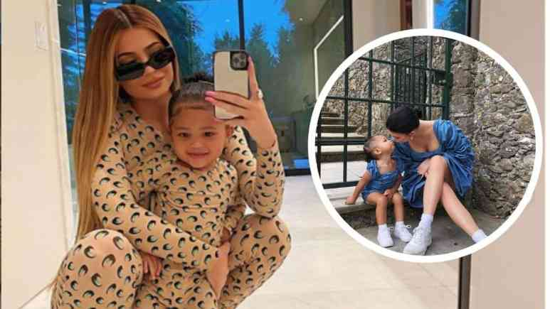 Kylie and Stormi share adorable photo in matching pajamas