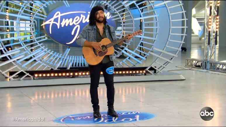 Franklin Boone plays guitar and auditions for Idol