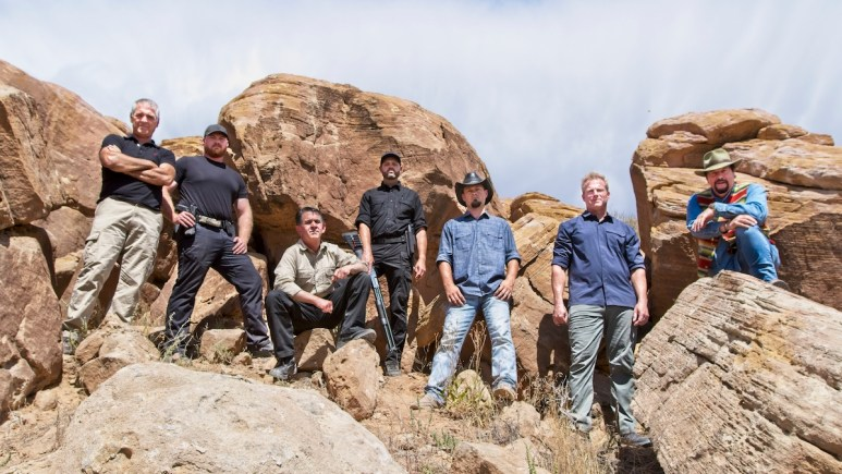 the secret of skinwalker ranch staff on history series