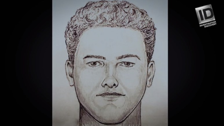 A sketch of the murder suspect