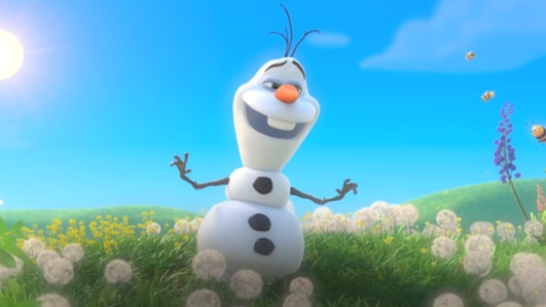 Olaf from Frozen singing