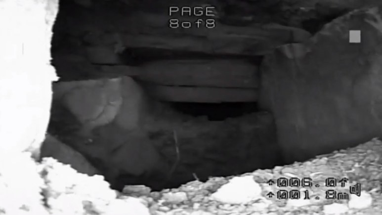 Camera footage of a tunnel