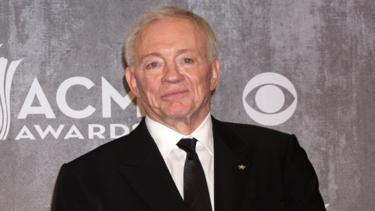 Jerry Jones on the red carpet