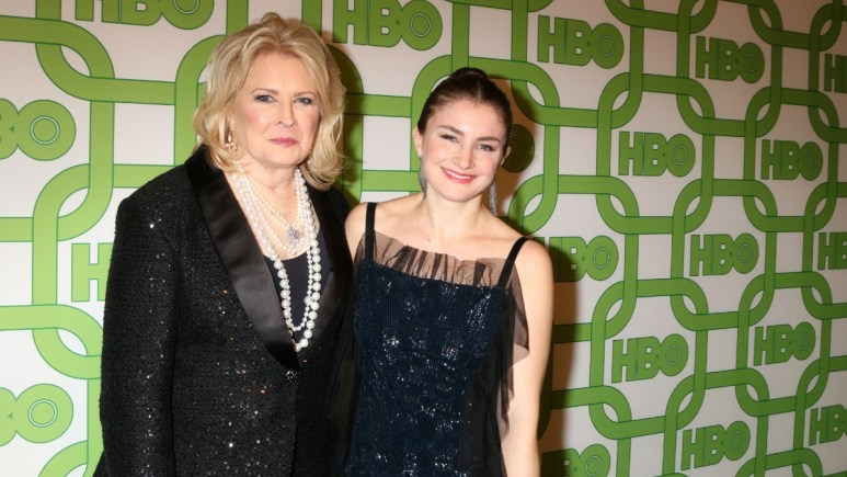 Candice Bergen on the red carpet with her daughter
