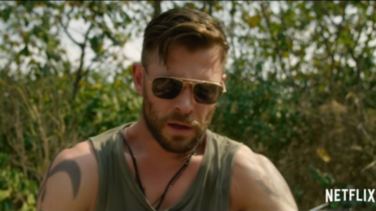 Chris Hemsworth in a scene from Extraction