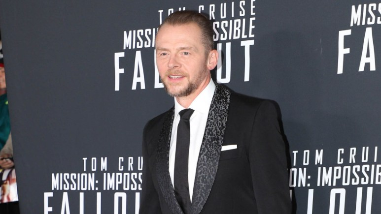 Simon Pegg on the red carpet